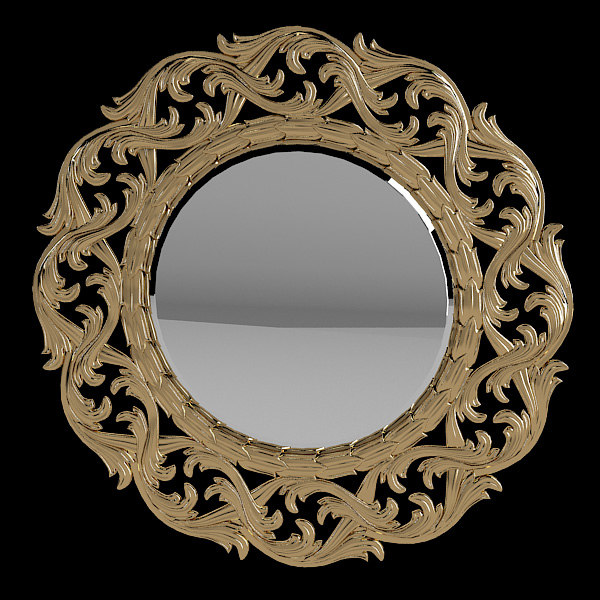 b French Round Baroque Carved Mirror Carving classic empire provence traditional victorian.jpg